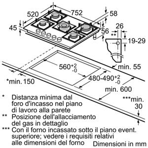 PPQ7A2B20 - BOSCH PPQ7A2B20 Piano cottura 75 cm. Vetro temperato ...