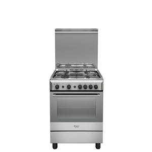 H6GG1FX - Hotpoint Ariston Cucina a gas Profondità 60 cm Inox ...